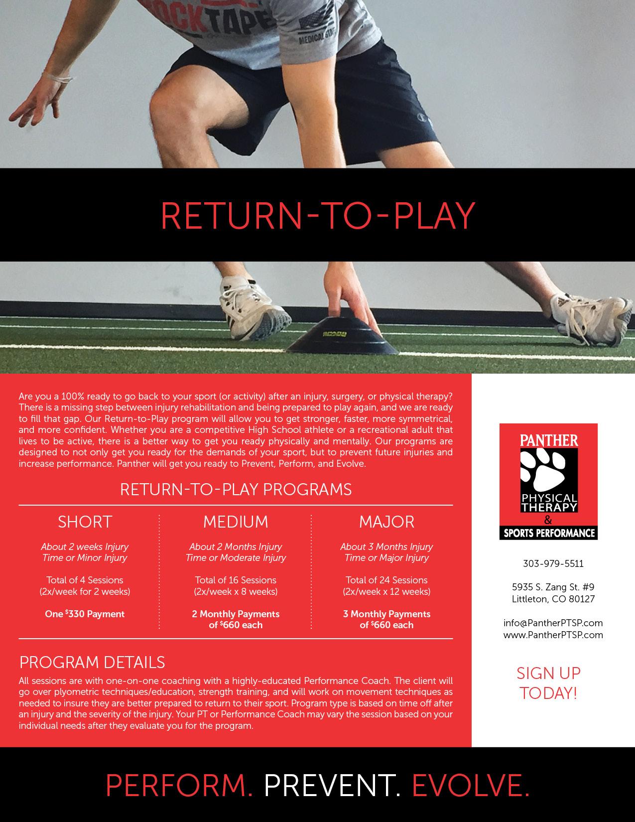 Return-to-Play Programs