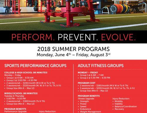 2018 Summer Programs