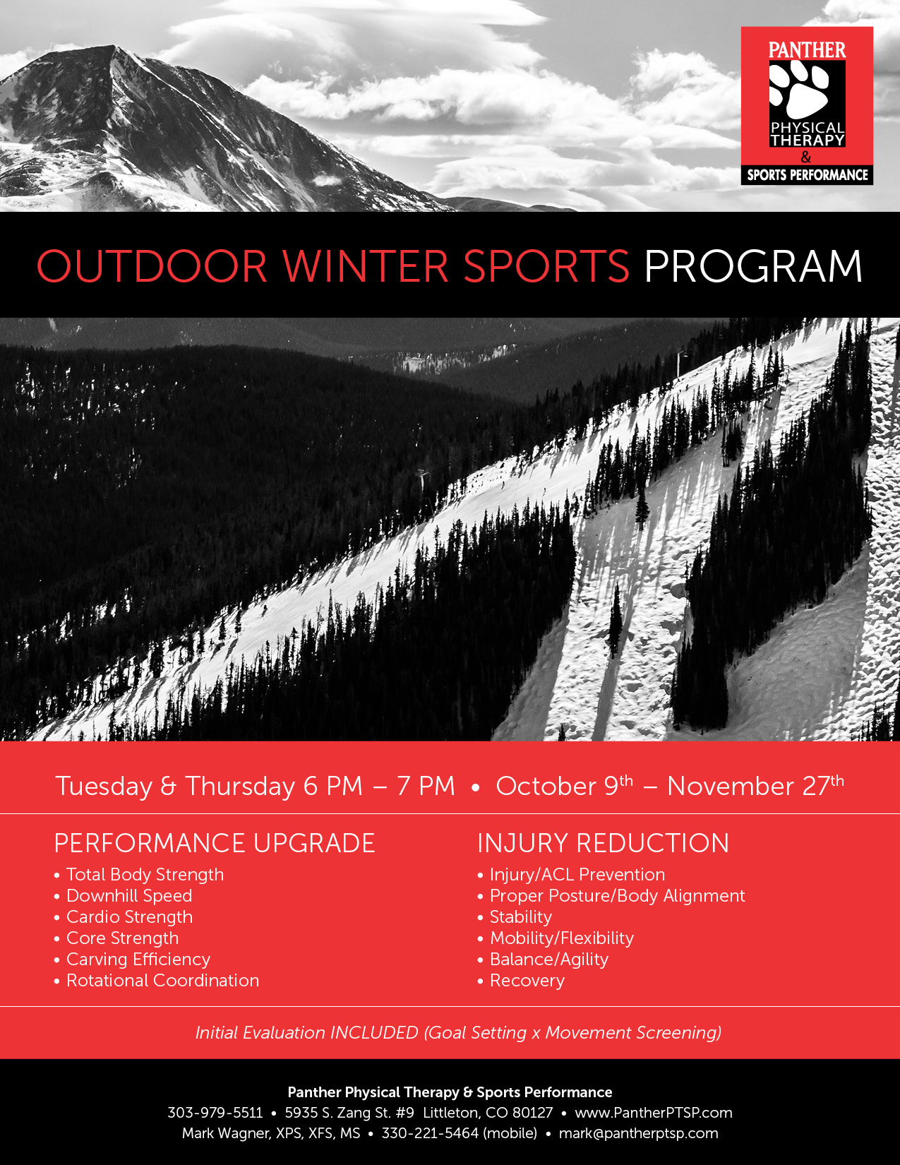 2018 Winter Outdoor Sports Programs