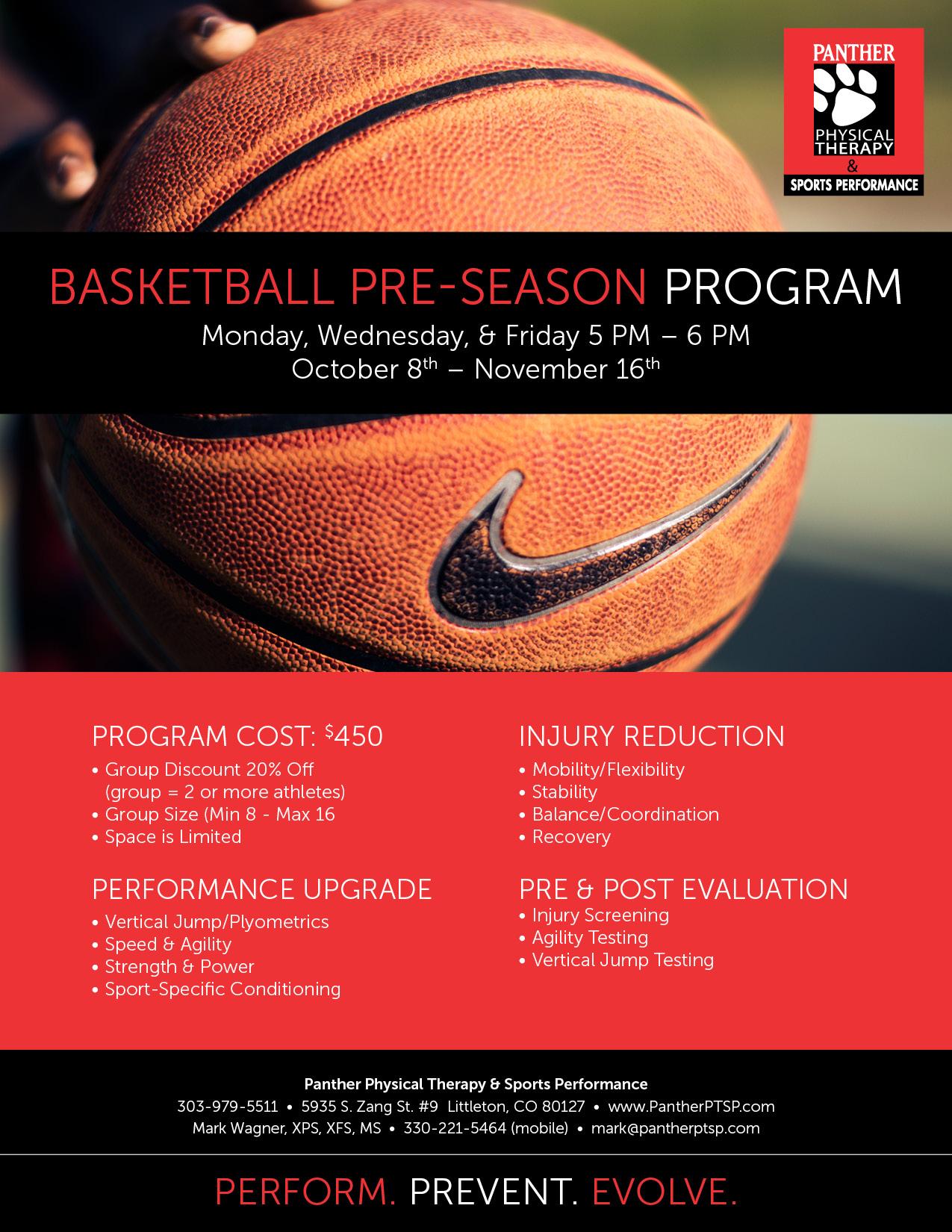 Basketball Pre-Season Prep