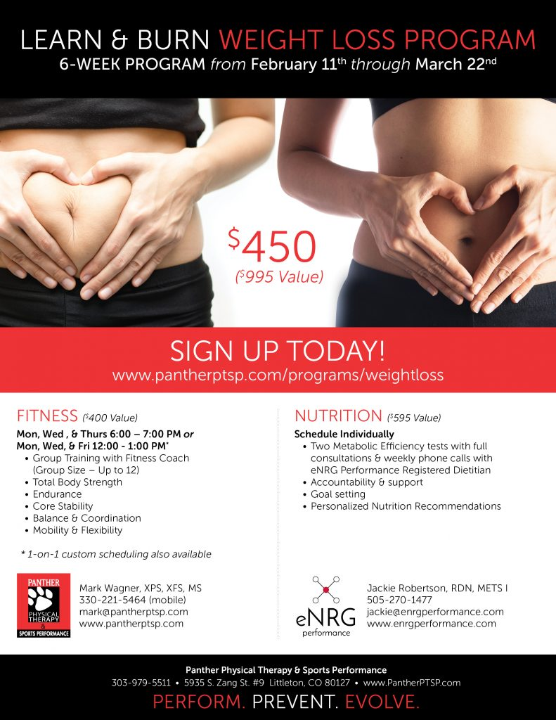 Weight Loss Program Panther Physical Therapy